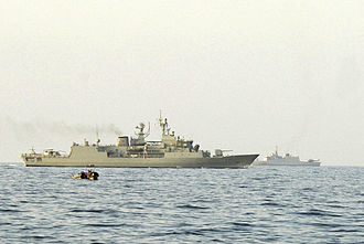 HMAS Warramunga (FFH 152) - Warramunga during an exercise in the Persian Gulf in October 2006
