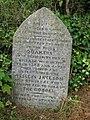 Commemoration stone for Sticklepath Quaker burial ground - geograph.org.uk - 913582.jpg
