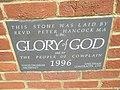 Commemorative stone outside St Wilfrid's, Cowplain - geograph.org.uk - 1307941.jpg