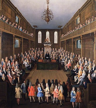 House of Commons of England - Interior of the House of Commons In Session by Peter Tillemans, c. 1710