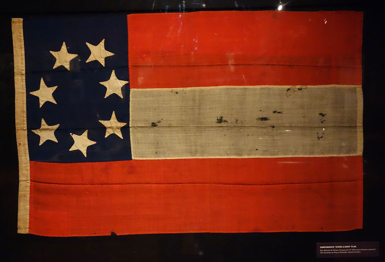 File:Confederate 'Stars and Bars' Flag, captured at ...