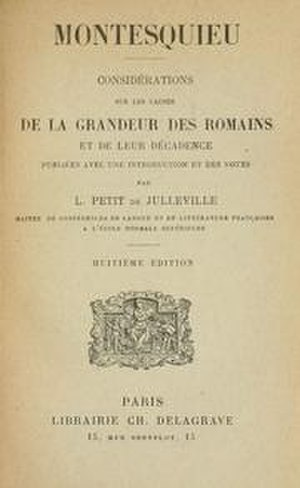 Considerations on the Causes of the Greatness of the Romans and their Decline - Image: Considerations des Romains Montesquieu