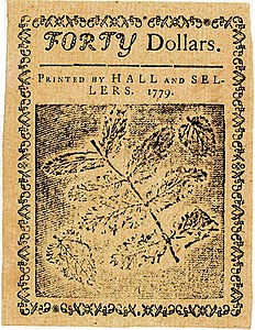 Continental Currency $40 banknote reverse (January 14, 1779).jpg