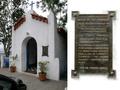 Convento da Penha - Capela de São Francisco e placa informativa na fachada frontal.png