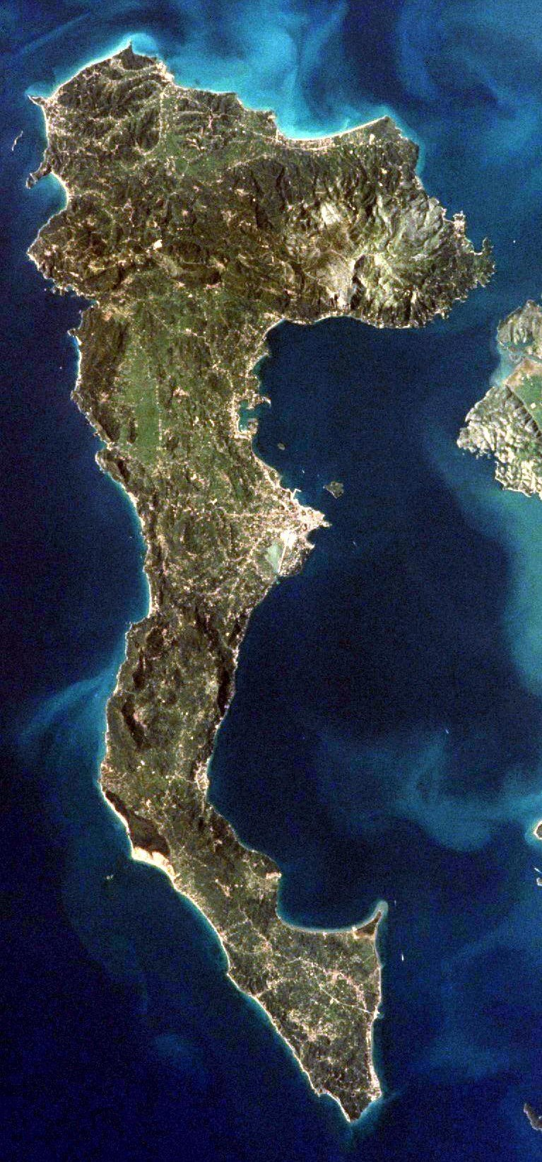 Corfu from ISS