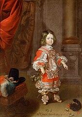 Erzherzog Karl Joseph (1649-1664) mit Eichhörnchen, im Alter von vier bis fünf Jahren