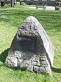 Coronation Walk commemorative stone, Wrexham (2).JPG