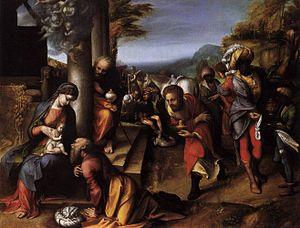Adoration of the Magi (Correggio) - Image: Correggio, adorazione dei magi, brera