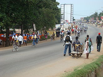 Teshie - Cycling competition in Teshie during Homowo Festival 2009
