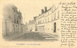 Une carte postale de 1903, verso.