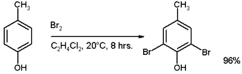 Bromination of p-cresol