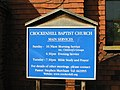 Crockenhill Baptist church notice board - geograph.org.uk - 985203.jpg