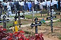 Crosses at a church in Goa, India.jpg