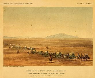 James H. Simpson - Crossing the Great Salt Lake Desert, 1859