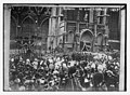 Crowd outside church allowing funeral cortege of King Leopold to pass, Belgium LCCN2014684461.jpg
