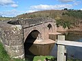 Curved parapet of Skenfrith Bridge - geograph.org.uk - 714530.jpg