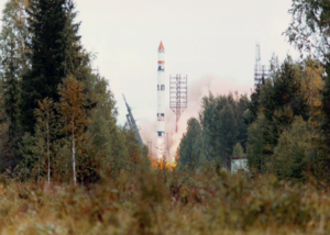 Plesetsk Cosmodrome - Image: Cyclone 3 rocket launching Meteor 3 satellite