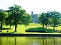Cyfarthfa Castle from across the lake.jpg
