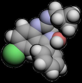Cyprazepam - Image: Cyprazepam 3d
