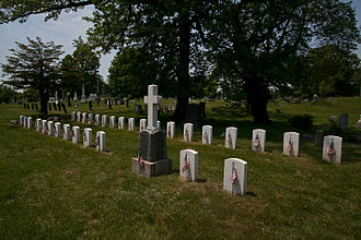 Cypress Hills National Cemetery - Mount of Victory section contains War of 1812 graves.