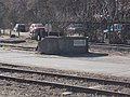 Déli station, post track buffer and MÁV-BKV tram connection track, 2019 Krisztinaváros.jpg