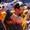D-backs first baseman Paul Goldschmidt takes batting practice on Gatorade All-Star Workout Day. (28580367321).jpg