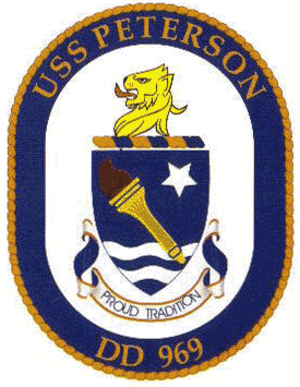 USS Peterson (DD-969) - Ship's crest