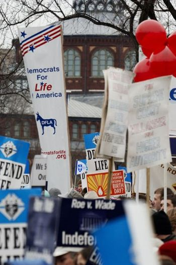 DFLA banner at the 2006 March for Life, courte...