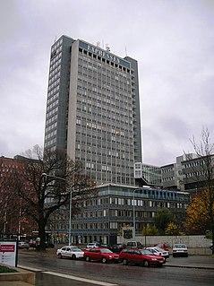 Dagens Nyheter Tower high-riser on Kungsholmen in Stockholm, Sweden