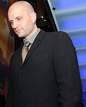 China Miéville - Miéville just after winning the Arthur C. Clarke Award in 2010