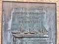 DS Austri Memorial in Nattrutekaien, Leirvik, Stord, Norway. Ship bombed 1945-02-21. Part of plaque.Photo 2018-03-13.jpg