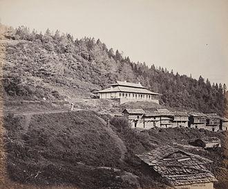 Narkanda - The dak bungalow at Narkanda in 1886.