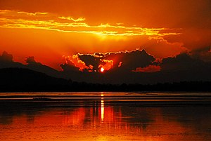 Dal Lake - A sunset view