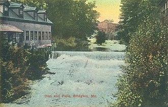 Bridgton, Maine - Image: Dam & Falls, Bridgton, ME