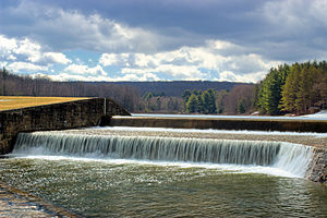 Parker Dam State Park - The dam at Parker Dam State Park