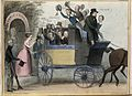 Daniel O'Connell drives a coach containing cheering schoolbo Wellcome V0050274.jpg