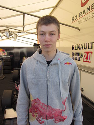 Daniil Kvyat - Kvyat in 2011 as member of the development Red Bull Junior Team