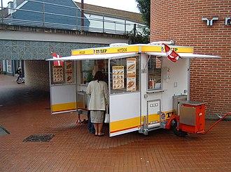Hot dog stand - A Pølsevogn (sausage wagon) in Kolding, Denmark.