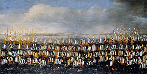 1676 in Denmark - Danish invasion of Scania on 29 June. Painting by Claus Møinichen