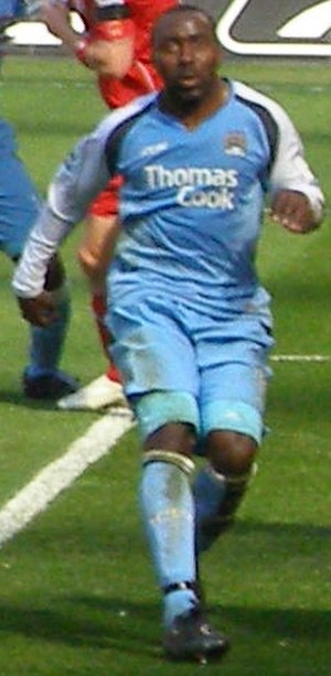 Darius Vassell - Vassell playing for Manchester City