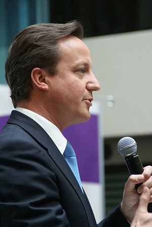 Prime Minister David Cameron speaking to the U...