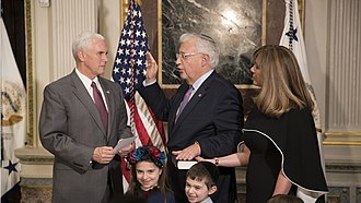 David M. Friedman - David Friedman is sworn in by Vice President Mike Pence.