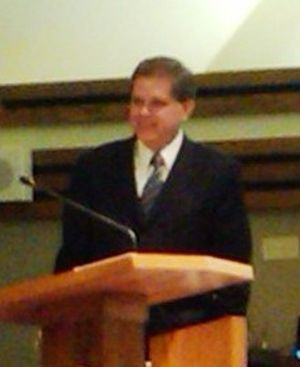 David L. Beck - Beck speaking to the young men in Arkansas.