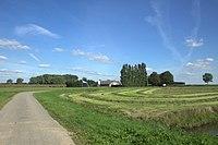 De Korn Boezemweg in de hooitijd bij Dussen.jpg