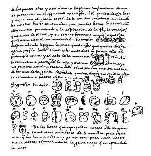 <i>Relación de las cosas de Yucatán</i> book by Diego de Landa
