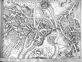 Bamberg in 1648 door Merian