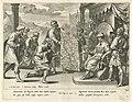 De koning van de Ammonieten eist land op Geschiedenis van Jefta (serietitel), RP-P-OB-73.926.jpg