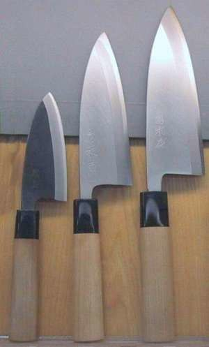 Cleaver - Deba bocho of different sizes