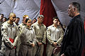 Defense.gov News Photo 101028-D-7203C-054 - Deputy Secretary of Defense William J. Lynn III speaks with Marines assigned to Task Force 33 in Nawa, Afghanistan, on Oct. 28, 2010.jpg