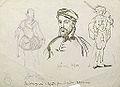 Dehodencq A. - Ink - ETude avec portrait d'Antonio Perez et des personnages costumés - 21x15cm.jpg